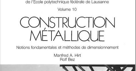 MÉTALLIQUE FONDAMENTALES DIMENSIONNEMENT CONSTRUCTION DE TÉLÉCHARGER ET MÉTHODES NOTIONS