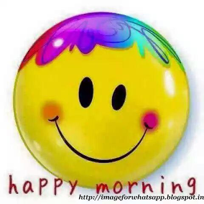 Good Morning Wishes with Smile on Whatsapp