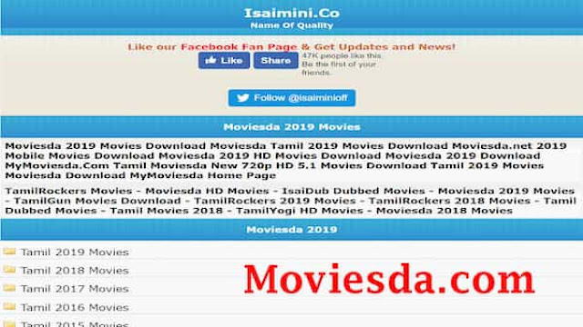Moviesda 2021 -illegal HD movies and latest download website