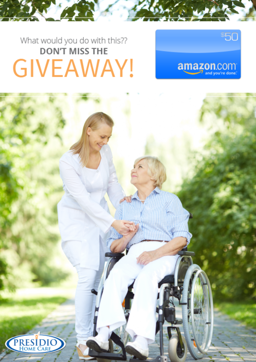 Enter the Presidio Amazon Gift Card Giveaway. Ends 7/16.