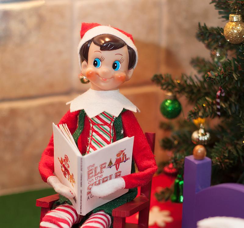 elf on the shelf mini book