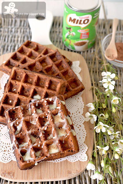 easy Milo waffles