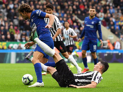 A Penalty and Own Goal was enough for Chelsea against Newcastle as they keep 100% record