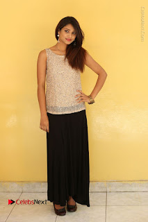 Tollywood Upcoming Actress Arthi Stills in Black Skirt at Plus 1 Movie Trailer Launch  0140.JPG