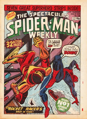 Specatcular Spider-Man Weekly #338, the Rocket Racer