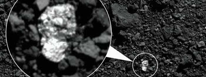pedaços do asteroide vesta em bennu