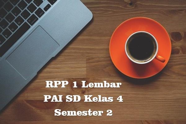 RPP 1 Lembar PAI SD Kelas 4 Semester 2