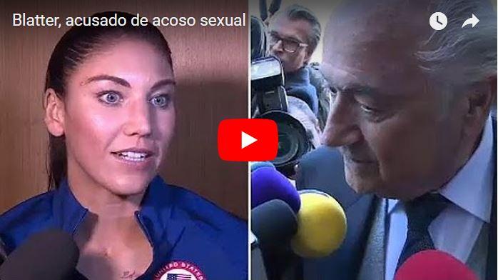 El ex-presidente de la FIFA Joseph Blatter me agarró el trasero