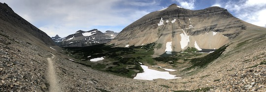 Panorama just below Siyeh Pass