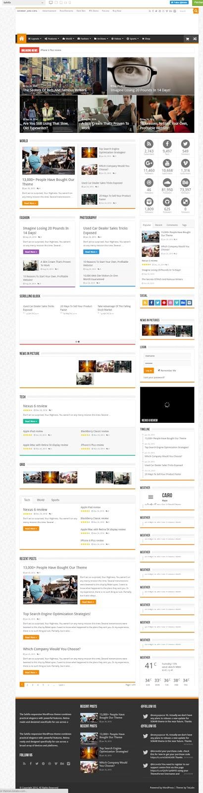 Sahifa- Premium wordpress News theme