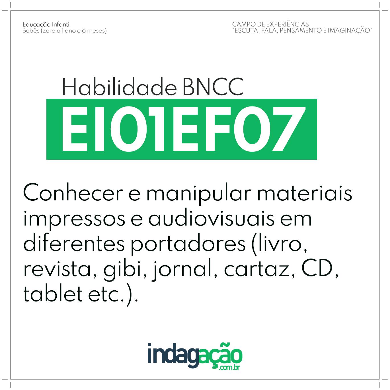 Habilidade EI01EF07 BNCC