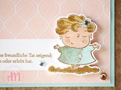 Stampin' Up! rosa Mädchen Kulmbach: Abschiedskarte zur Rente mit Gut gesagt, Gut definiert und New wonders