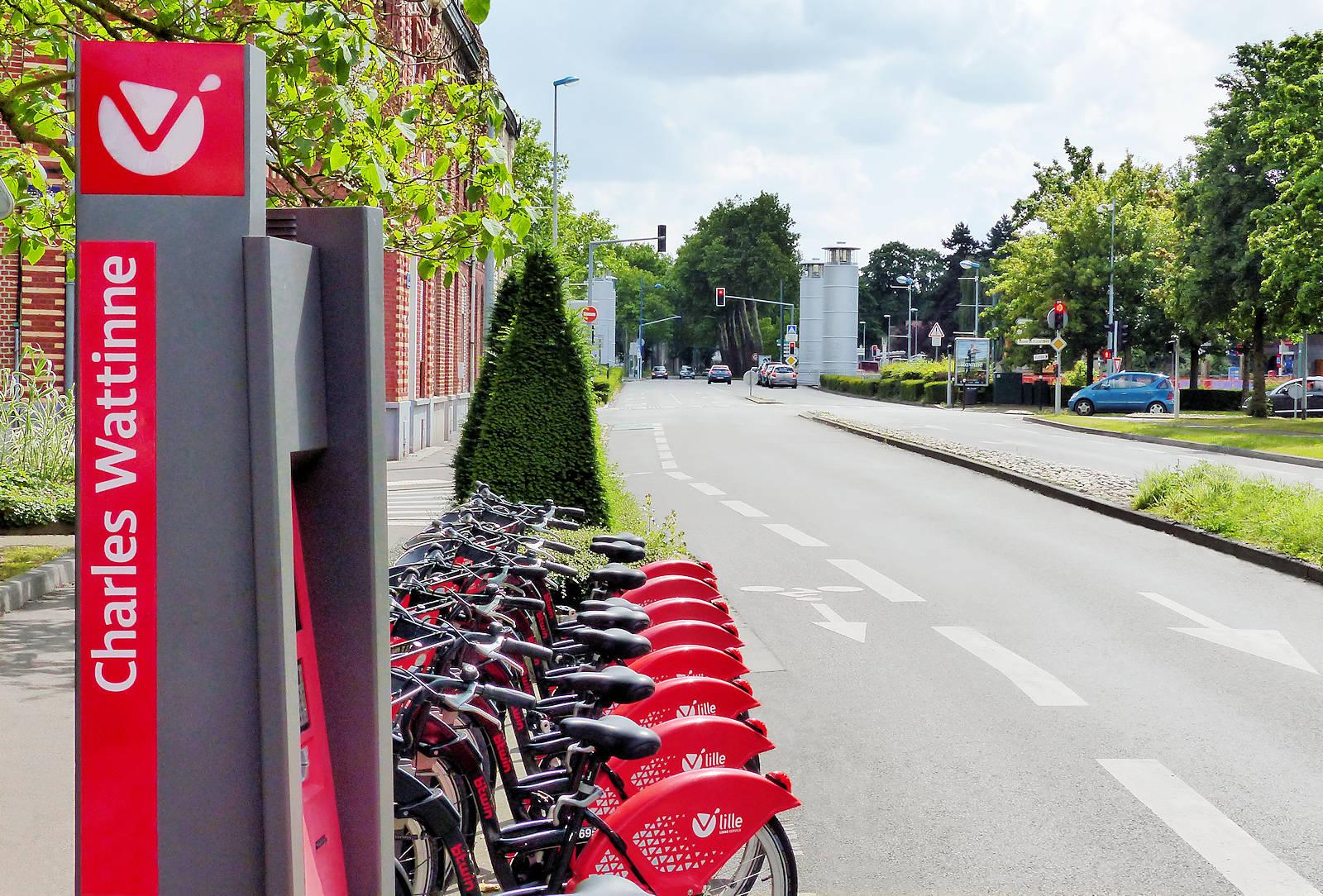 V'Lille Tourcoing - Station Charles Wattinne, rue Charles Wattinne, Tourcoing