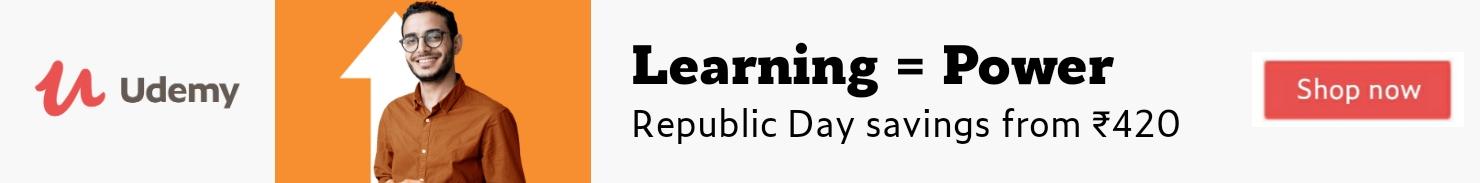 Udemy : Republic Day Sale