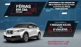 Cadastrar Promoção Nissan 8 Viagens e 1 Nissan Kicks - Férias em Dia