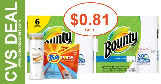 Bounty & Tide Pods CVS PG Deal 7-5-7-11