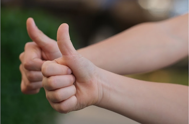Positive, Gesture, Thumb, Happy, Attitude Image