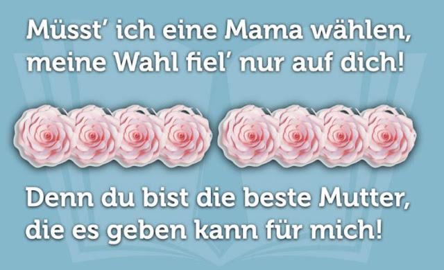 Muttertag Sprueche lustig schoen Gedichte - Muttertagssprueche danke