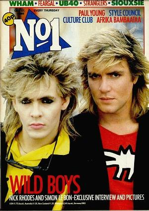 Nick Rhodes and Simon Le Bon in 1984