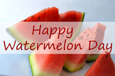 red watermelon slices for National Watermelon Day