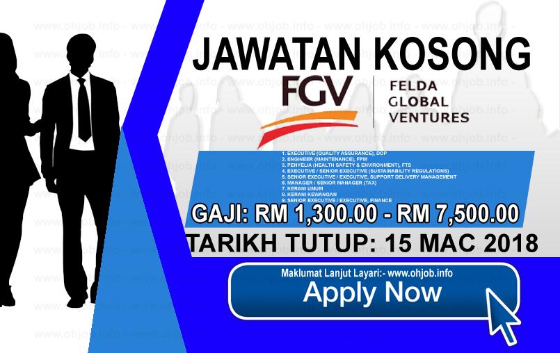 Jawatan Kerja Kosong Felda Global Ventures - FGV logo www.ohjob.info mac 2018