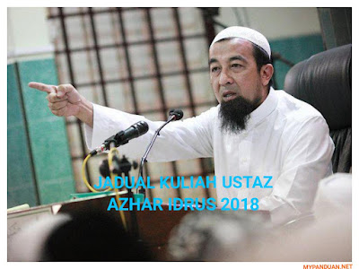 Jadual Kuliah Ustaz Azhar Idrus (UAI) Bulan Januari 2018
