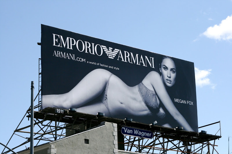 Megan Fox Emporio Armani underwear billboard