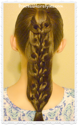 Kaleidoscope braid ponytail video tutorial, easier than it looks.