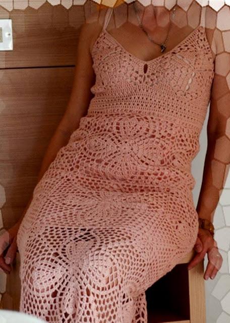 vestido em crochê