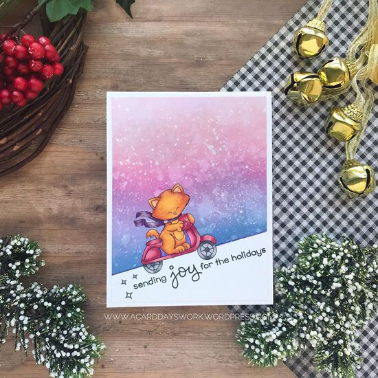 Sending joy for the holidays by Jess features Newton Scoots By by Newton's Nook Designs; #newtonsnook