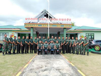Tim Pengawas Doktrin dan Petunjuk TNI-AD Disambut Oleh Dandim 1302/Minahasa