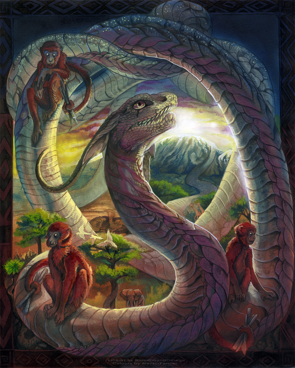 Dragon Legends: Bo's Dragon Lore: Dragons In Africa: Aido-Hwedo