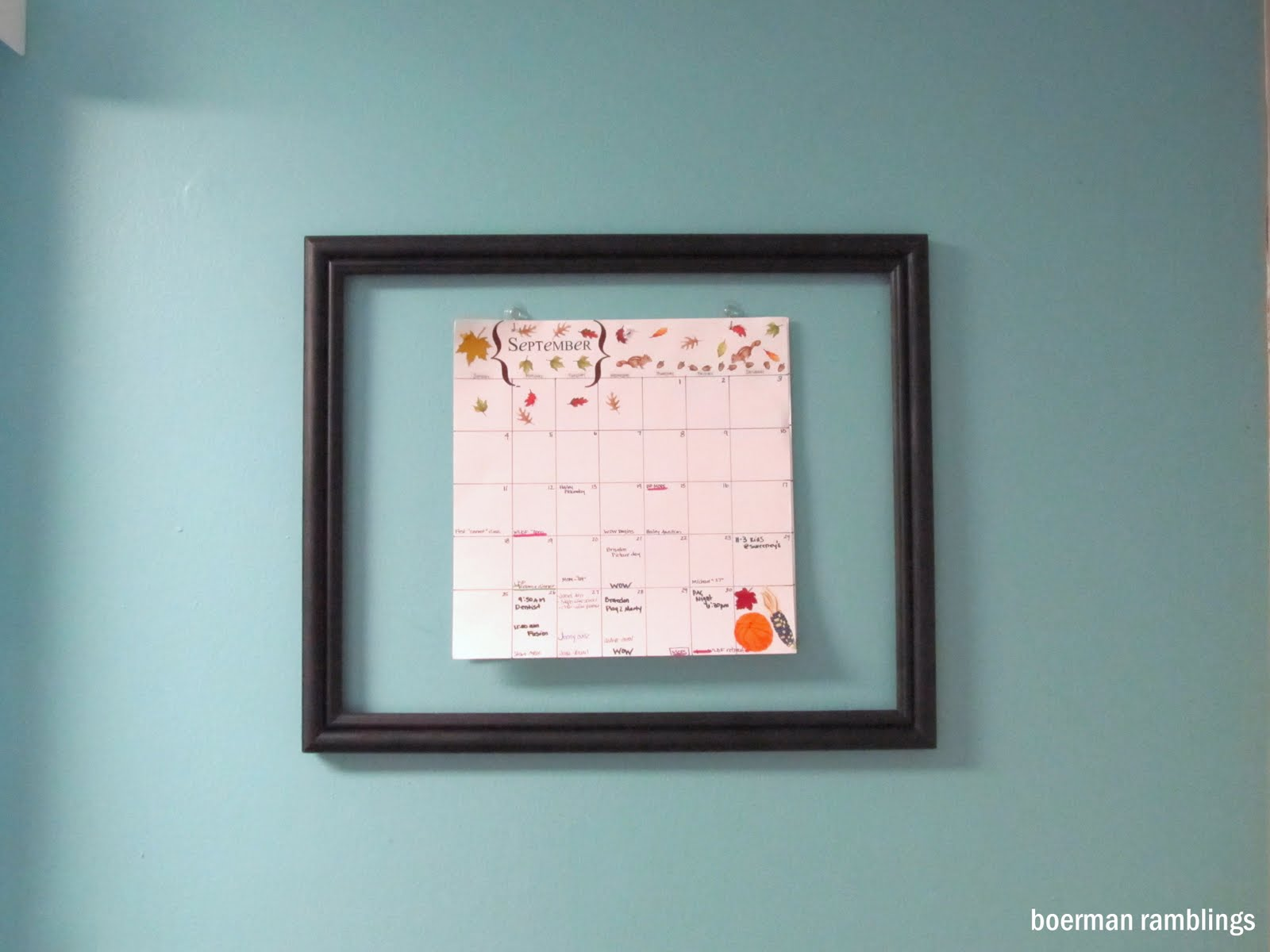 calendar frame and a fabric covered notebook... » the PEARL blog
