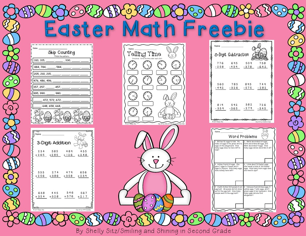 Smiling And Shining In Second Grade Easter Math For Second Grade