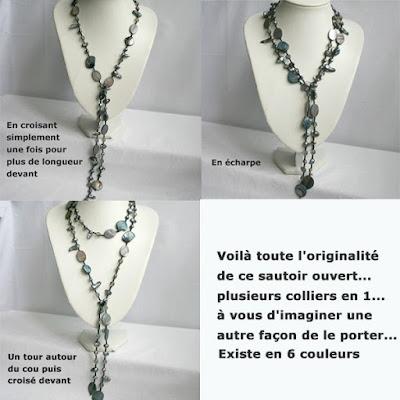 Sautoir ouvert perles eau douce