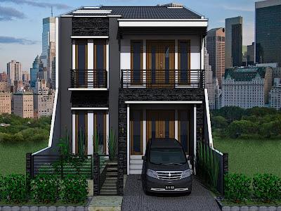 gambar desain rumah minimalis modern lantai 2 | model