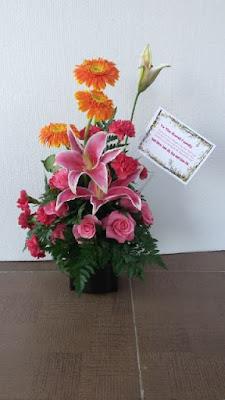 harga bunga meja surabaya