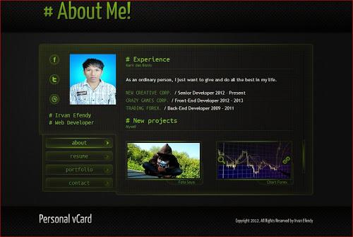 Creative vCard Identity Website Templates