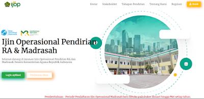 Pembuatan Piagam Izin Operasional Pendirian RA dan Madrasah Secara Online