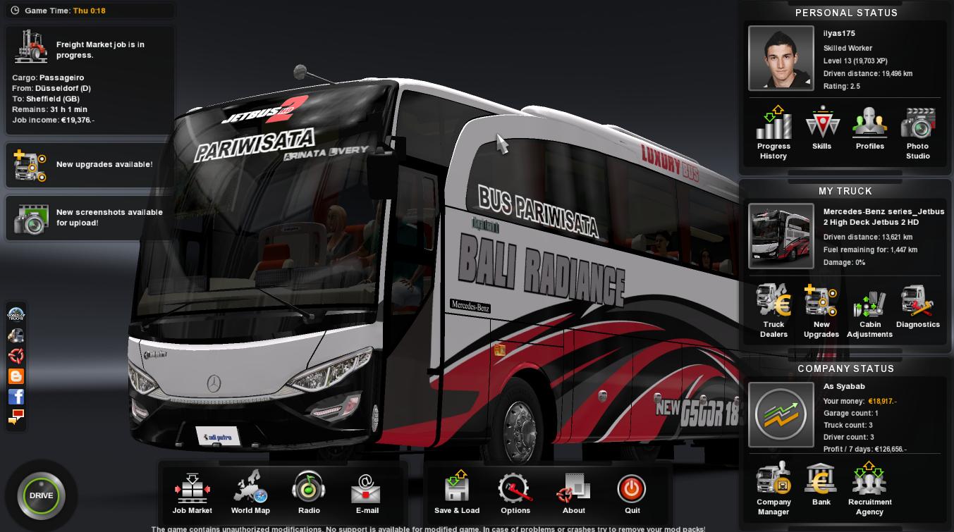 Mod Jetbus 2 HD - Bali Radiance