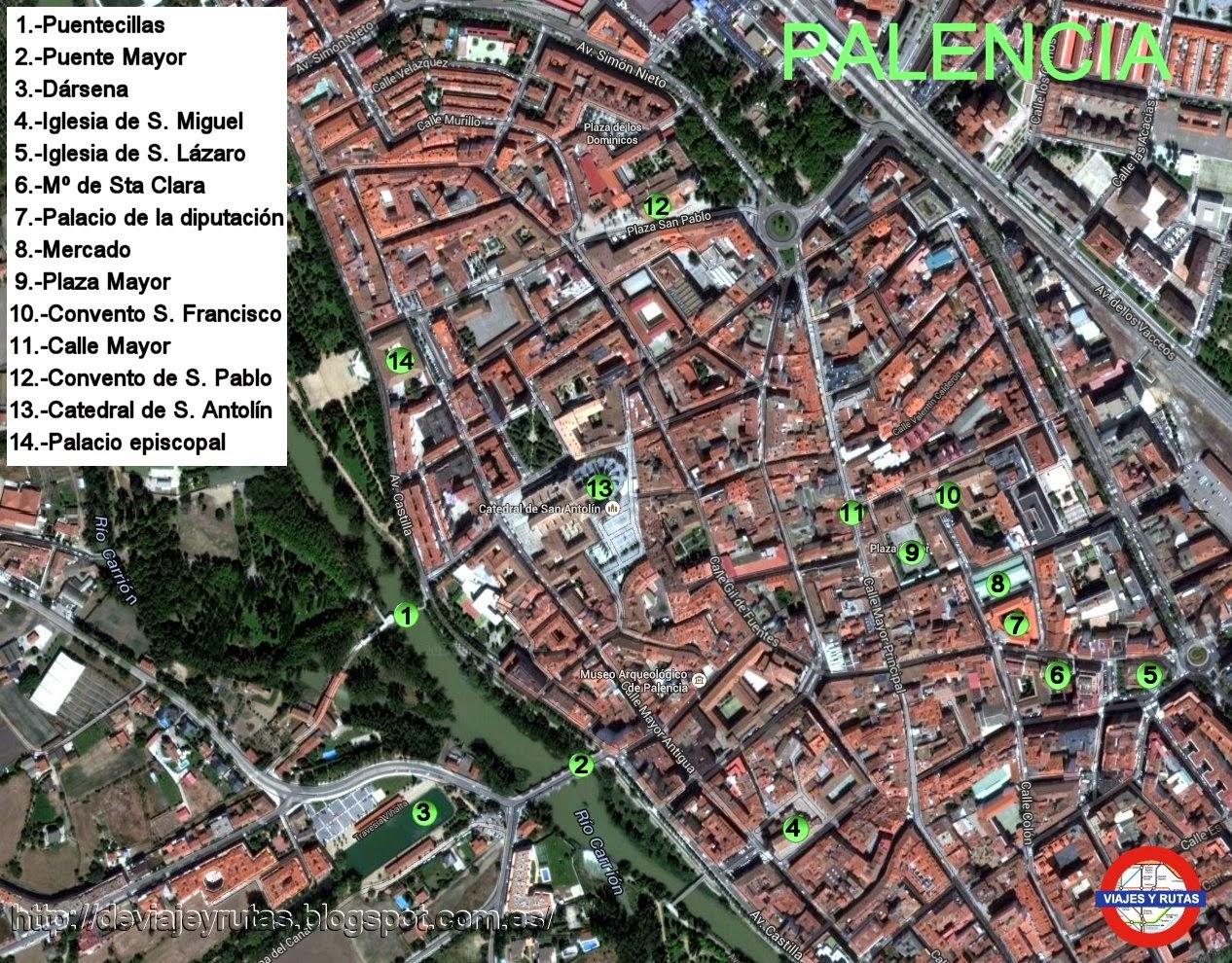 mapa de Palencia