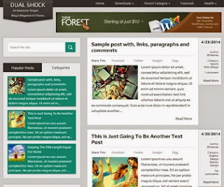 DualShock Template Blog Keren dan Seo