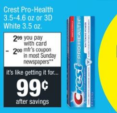 Crest Toothpastes