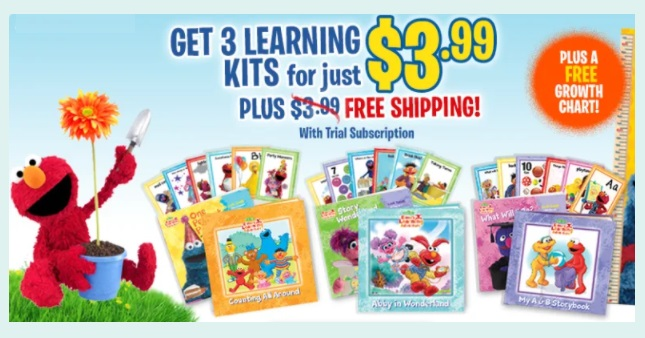 Grab 3 ELMO's Learning Kits for $3.99 Shipped