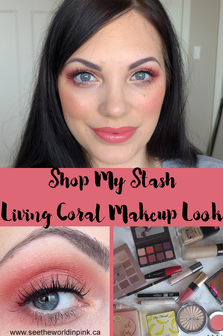 "March Shop My Stash - Colour of the Year ""Living Coral"" Makeup Look"