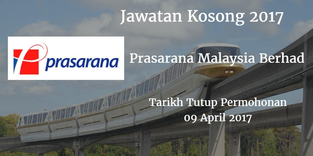 Jawatan Kosong Prasarana Malaysia Berhad 09 April 2017