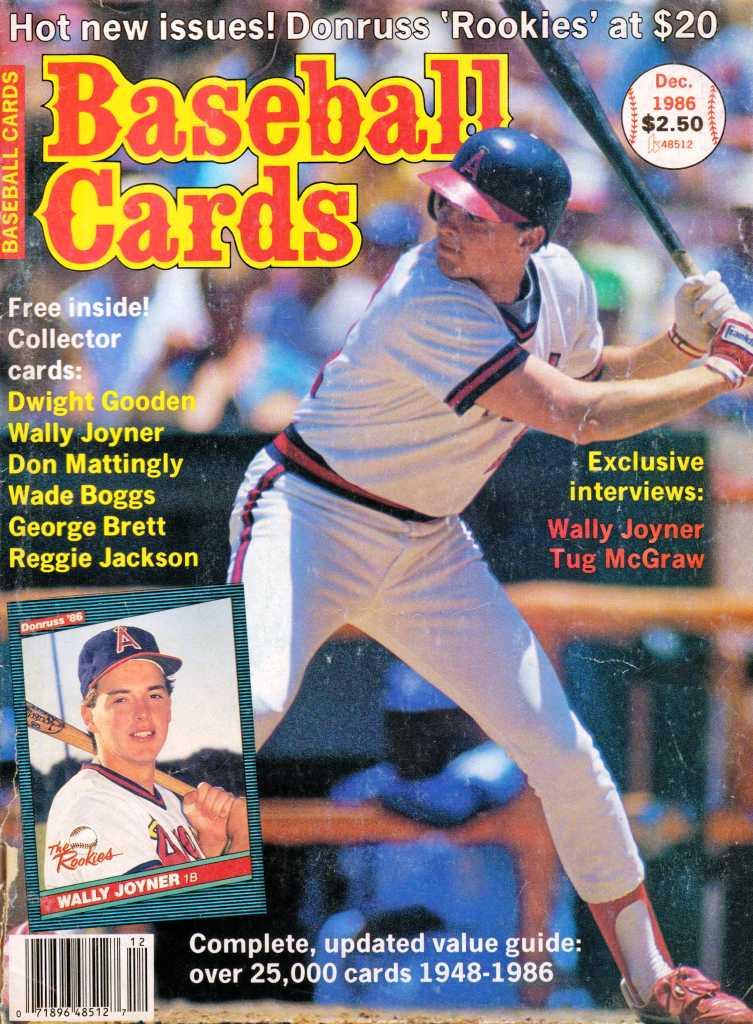 December 1986 Baseball Cards Magazine Wally Joyner