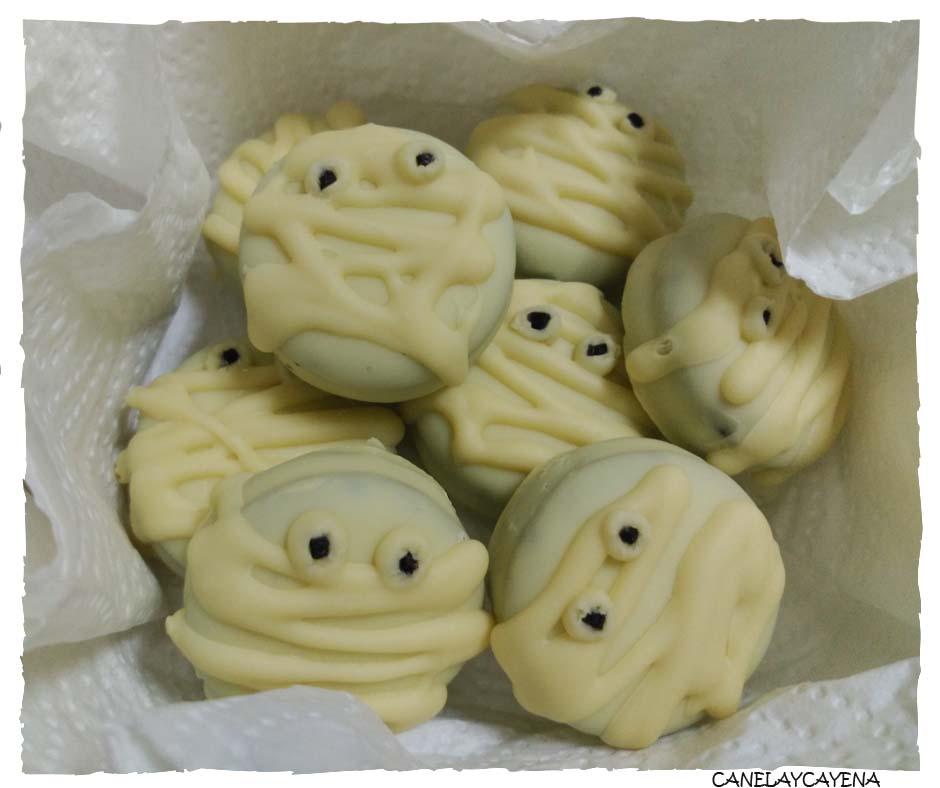 Baño Blanco Para Galletas:Qué te parece poder preparar estas galletas de momia para Halloween