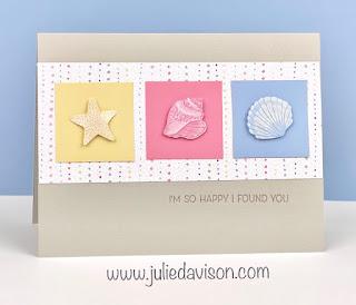 Stampin' Up! Sand & Sea Suite ~ Seaside Shell Stickers ~ www.juliedavison.com #stampinup January-June 2021 Mini Catalog