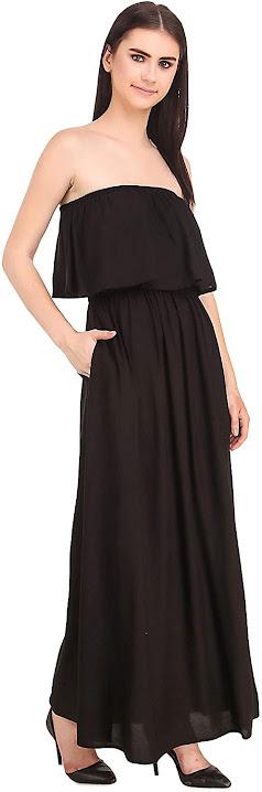 Best Quality Black Strapless Maxi Dresses for Women